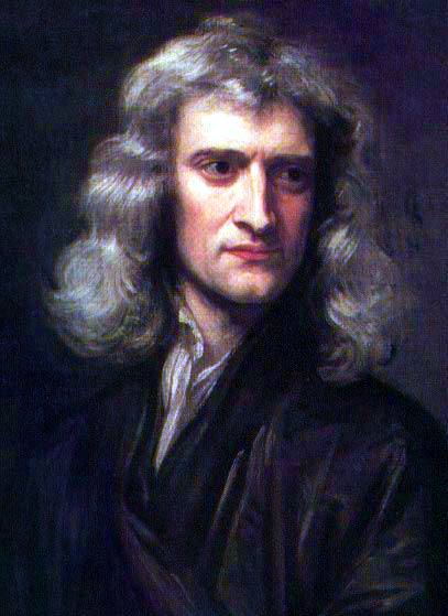 Isaac Newton, age 46, ca. 1689, portrait by Sir Godfrey Kneller